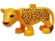Part No: 8435pb01  Name: Duplo Leopard Adult Second Version with Turned Head
