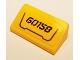 Part No: 85984pb169  Name: Slope 30 1 x 2 x 2/3 with Black '60158' and Dark Bluish Gray Frame on Bright Light Orange Background Pattern (Sticker) - Set 60158