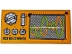 Part No: 87079pb0473  Name: Tile 2 x 4 with Control Panel and Monitor with Lime and Orange Sine Waves Pattern (Sticker) - Set 70134