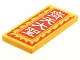 Part No: 87079pb0912  Name: Tile 2 x 4 with Red Border and Background, White Chinese Logogram '齊天大聖' (Monkey King) Pattern (Sticker) - Set 80024