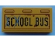 Part No: 87079pb0920  Name: Tile 2 x 4 with 'SCHOOL BUS' and Rust Pattern (Sticker) - Set 70423