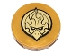 Part No: 14769pb101  Name: Tile, Round 2 x 2 with Bottom Stud Holder with Gold Chima Eagle Emblem Pattern (Sticker) - Set 70146