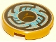 Part No: 14769pb221  Name: Tile, Round 2 x 2 with Bottom Stud Holder with Rune Designs and Blue Pixels Pattern