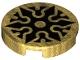 Part No: 14769pb384  Name: Tile, Round 2 x 2 with Bottom Stud Holder with Black Shuriken Throwing Star Pattern