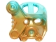 Part No: 19064pb01  Name: Bionicle Mask of Ice with Marbled Trans-Light Blue Pattern