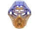 Part No: 19077pb01  Name: Bionicle Mask of Earth with Marbled Trans-Purple Pattern