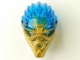Part No: 24160pb02  Name: Bionicle Mask of Water (Unity) with Marbled Trans-Dark Blue Pattern