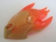 Part No: 24162pb04  Name: Bionicle Creature Head/Mask with Marbled Trans-Neon Orange Pattern