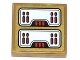 Part No: 3068bpb0791  Name: Tile 2 x 2 with Groove with Red Light Bars Pattern (Sticker) - Set 70505