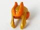 Part No: 68034pb02  Name: Minifigure, Hair Swept Back with 2 Side Locks, Orange Horns and Pointed Ears Pattern