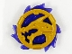 Part No: 69567pb01  Name: Ring 3 x 3 with Dragon Head and Trans-Purple Flames Pattern (Ninjago Storm Amulet)