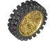 Part No: 74214c01  Name: Wheel 24 x 7 with Shallow Spokes with Fixed Black Rubber Tire