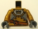 Part No: 973pb0569c01  Name: Torso Castle Fantasy Era Gold Knight Pattern / Pearl Gold Arms / Dark Bluish Gray Hands