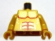 Part No: 973pb0757c01  Name: Torso Atlantis Armor with Gold Plated Muscles Outline Pattern / Pearl Gold Arms / Pearl Gold Hands