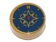 Part No: 98138pb045  Name: Tile, Round 1 x 1 with Dark Blue Compass Rose and Red Needle Pattern