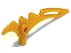 Part No: 98141  Name: Minifigure, Weapon Crescent Blade, Serrated with Bar