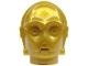 Part No: x134  Name: Minifigure, Head Modified SW C-3PO / K-3PO Protocol Droid Plain