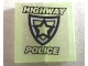 Part No: BA091pb01  Name: Stickered Assembly 2 x 2 with Police Badge and 'HIGHWAY POLICE' Pattern (Sticker) - Set 8152 - 2 Tiles 1 x 2