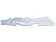 Part No: 11439pb04  Name: Minifigure, Weapon Sword, Jagged Edges with Marbled Trans-Medium Blue Pattern