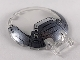 Part No: 18675pb18  Name: Dish 6 x 6 Inverted - No Studs with Handle with Pearl Dark Gray and Silver Armor Pattern