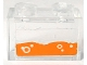 Part No: 3065pb08  Name: Brick 1 x 2 without Bottom Tube with Orange Water and Bubbles Pattern (Sticker) - Set 70317