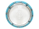 Part No: 3960pb034  Name: Dish 4 x 4 Inverted (Radar) with Solid Stud with Dark Azure Circle / Gyrosphere Pattern