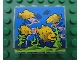 Part No: 4215pb068  Name: Panel 1 x 4 x 3 with Fish in Aquarium Pattern (Sticker) - Set 8160