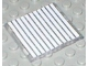 Part No: 4448p02  Name: Glass for Window 4 x 4 x 3 Roof with 11 White Stripes Pattern (Sticker) - Sets 6380 / 6398
