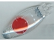 Part No: 47844pb01  Name: Windscreen 9 x 3 x 1 2/3 Bubble Canopy with Red Circle and Verniers Pattern