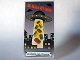 Part No: 57895pb003  Name: Glass for Window 1 x 4 x 6 with 'The Bricks are Coming' Movie Poster Pattern (Sticker) - Set 10184