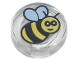 Part No: 98138pb186  Name: Tile, Round 1 x 1 with Bee Pattern
