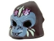 Part No: 13361pb03  Name: Minifigure, Headgear Mask Gorilla with Gray Face, Light Yellow Face Paint and Pink Flowers Pattern