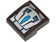 Part No: 15068pb013  Name: Slope, Curved 2 x 2 with Mechanical Hand with Blue and Silver Armor Plates Pattern (Sticker) - Set 70125