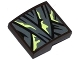 Part No: 15068pb051  Name: Slope, Curved 2 x 2 with Dark Bluish Gray Wrapping with Yellowish Green Stains Pattern (Sticker) - Set 70737