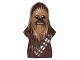 Part No: 15307pb01  Name: Minifigure, Head Modified SW Wookiee, Chewbacca with Dark Tan Face Fur and Teeth Pattern