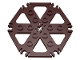 Part No: 64566  Name: Technic, Plate Rotor 6 Blade with Clip Ends Connected (Water Wheel)