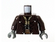 Part No: 973pb0707c01  Name: Torso SW Jacket with Silver Buttons and Ammo Belt Pattern (Cad Bane) / Dark Brown Arms / Dark Bluish Gray Hands