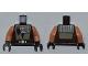 Part No: 973pb0965c01  Name: Torso SW Quinlan Vos Pattern / Nougat Arms / Black Hands