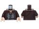 Part No: 973pb1139c01  Name: Torso LotR Coat with Evenstar Pendant, Double Button Shirt and Belt Pattern (Aragorn) / Dark Brown Arms / Light Nougat Hands