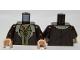 Part No: 973pb1553c01  Name: Torso LotR Coat with Tan Fur Trim and 2 Shirts Pattern / Dark Brown Arms / Light Nougat Hands