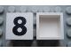 Part No: Mx1022Apb101  Name: Modulex Tile 2 x 2 with Black  '8' Pattern (no internal support)