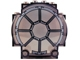 Part No: 30366pb03  Name: Windscreen 3 x 6 x 5 Bubble with SW 8 Spoke Radial Light Bluish Gray Thick Lines Pattern