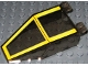 Part No: 30372pb02  Name: Windscreen 7 x 4 x 1 2/3 with SW Yellow Pattern