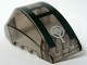 Part No: 41883pb001  Name: Windscreen 6 x 4 x 2 Wedge Curved with Dark Green Cockpit and Silver Crosshairs Pattern (Sticker) - Set 7683