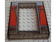 Part No: 45402px2  Name: Door Frame 2 x 8 x 8 with Red Curtains Pattern