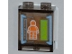 Part No: 87552pb005  Name: Panel 1 x 2 x 2 with Side Supports - Hollow Studs with Orange Minifigure on Screen Pattern (Sticker) - Set 6873