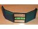 Part No: 2408pb02  Name: Panel 10 x 6 x 11 with Unitron Silver / Green Pattern (Sticker) - Set 6991