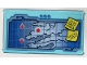 Part No: 57895pb049  Name: Glass for Window 1 x 4 x 6 with Map Screen and '01-20 SAVE NINJA' and 'MILK!' Sticky Notes Pattern (Sticker) - Set 70596