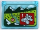 Part No: 60603pb010  Name: Glass for Window 1 x 4 x 3 - Opening with Mountains, Trees and ATV Target Pattern