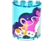Part No: 6259pb030  Name: Cylinder Half 2 x 4 x 4 with White, Pink and Dark Purple Clouds, Rocket Ship and 7 Stars Pattern (Sticker) - Set 41128